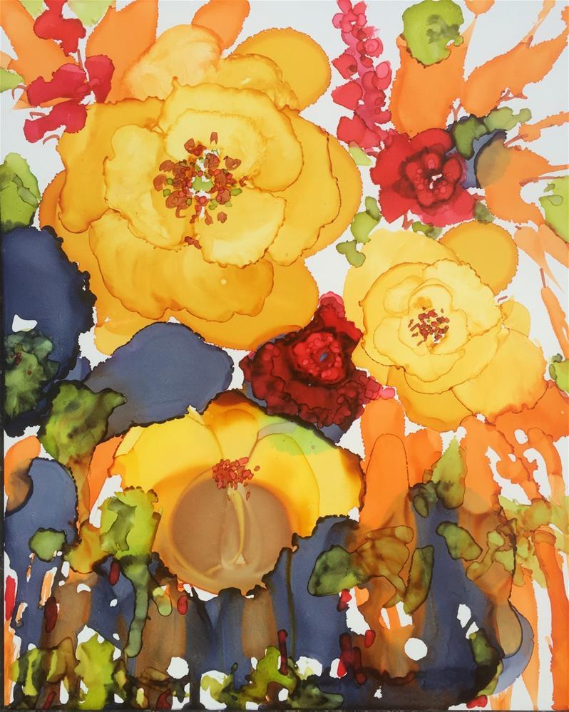 """Tropical Splash"" original fine art by Kelly Alge"
