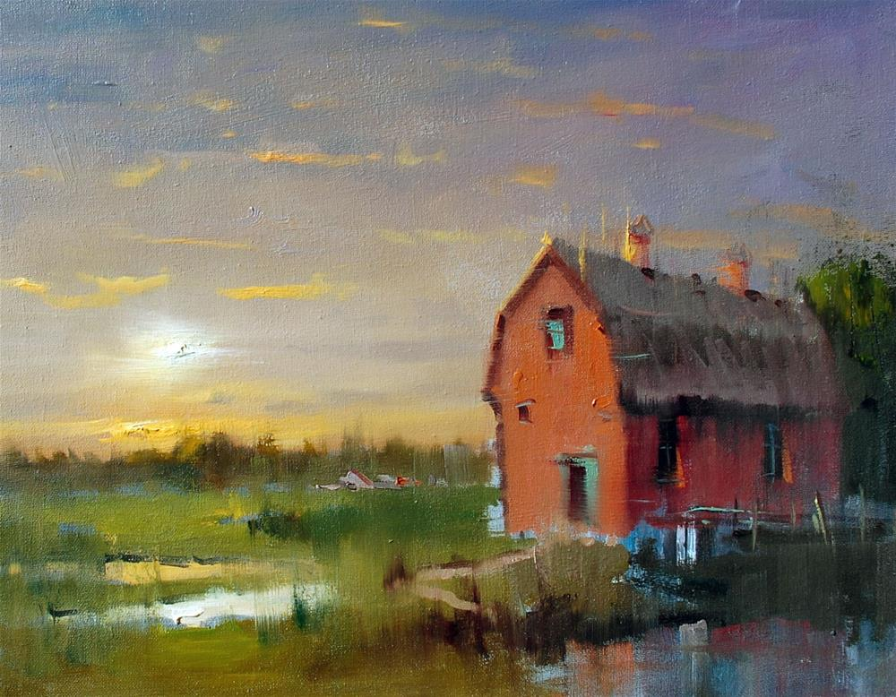 """""""An Evening"""" original fine art by Mahin Gholizadeh"""