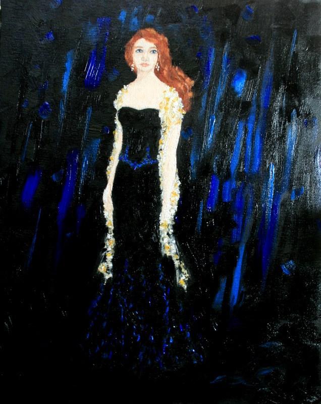 """""""Blue Rain"""" original fine art by Jean Nelson"""