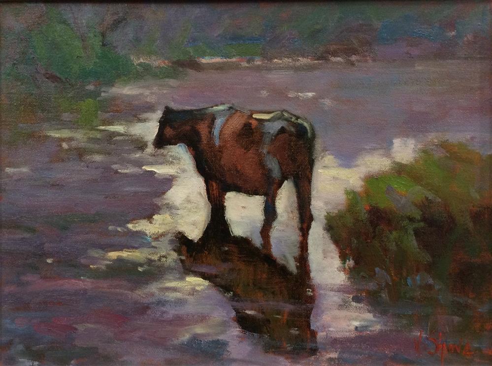 """""""Cooling Off"""" original fine art by John Shave"""