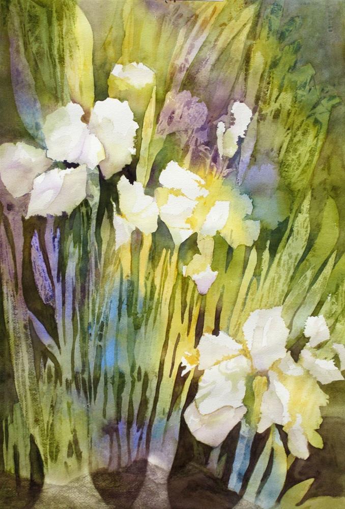 """""""Iris"""" original fine art by Julie Crouch"""