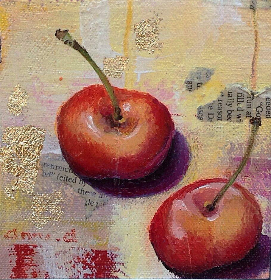 """Rainier Cherries"" original fine art by Anne Ducrot"