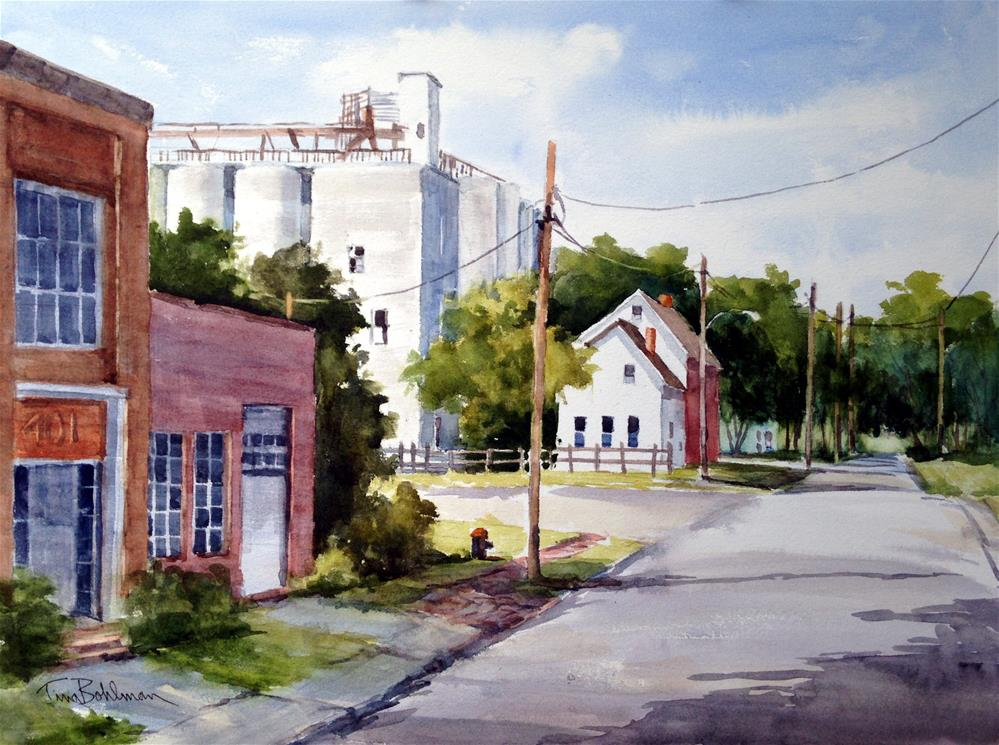 """ON BROOKLETTS AVENUE"" original fine art by Tina Bohlman"