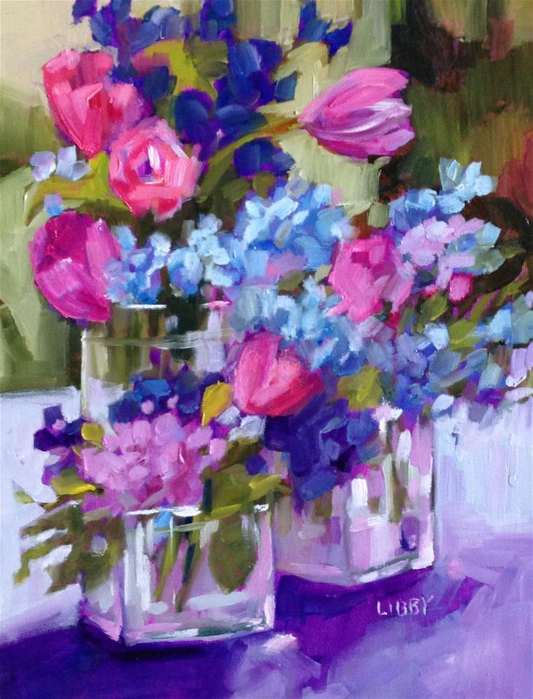 """Tulip Parade"" original fine art by Libby Anderson"