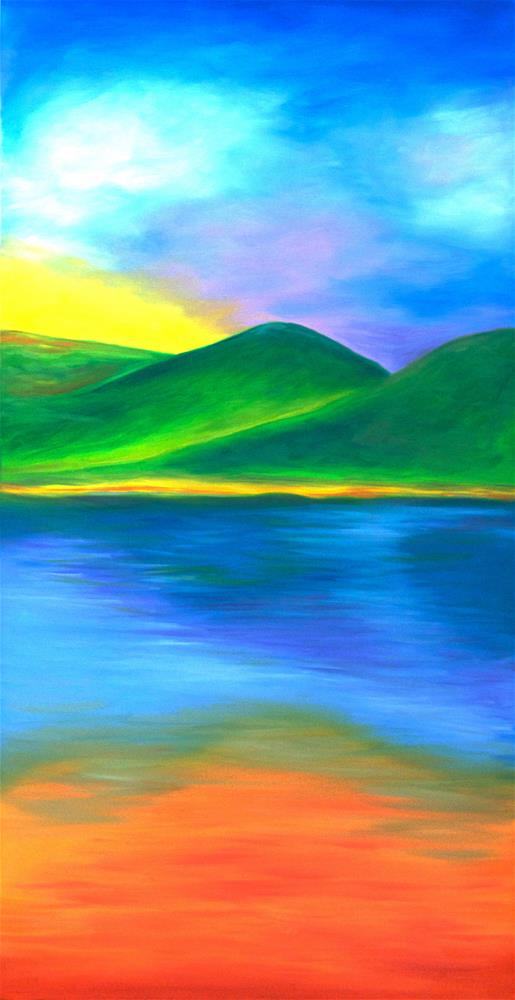 """Sunset"" original fine art by Susan Bertocci"