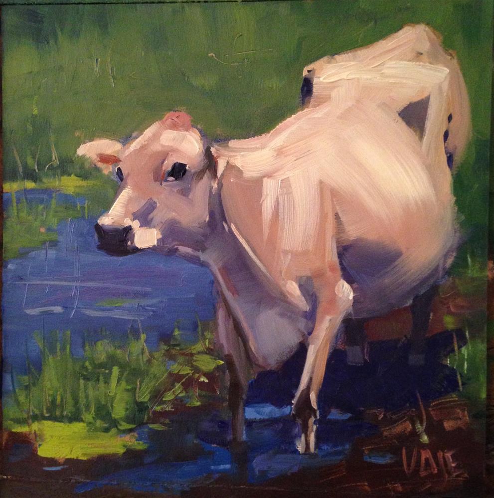 """""""#125 Easing In"""" original fine art by Patty Voje"""