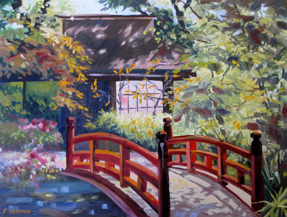 """Japanese Bridge"" original fine art by Ellen LaVaccare"