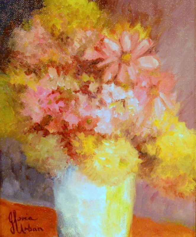 """Floral #1"" original fine art by Gloria Urban"