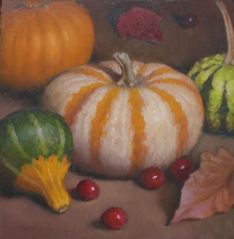 """""""Little Gourds Autumn Still Life"""" original fine art by Debra Becks Cooper"""