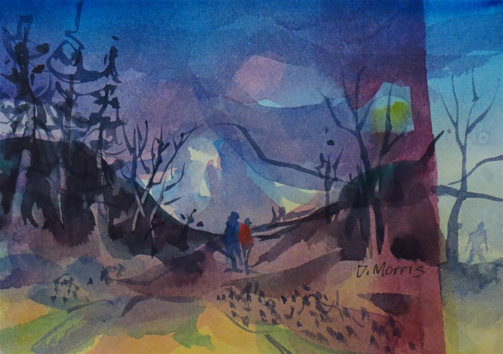 """On Spirit Mountain"" original fine art by Dann Morris"