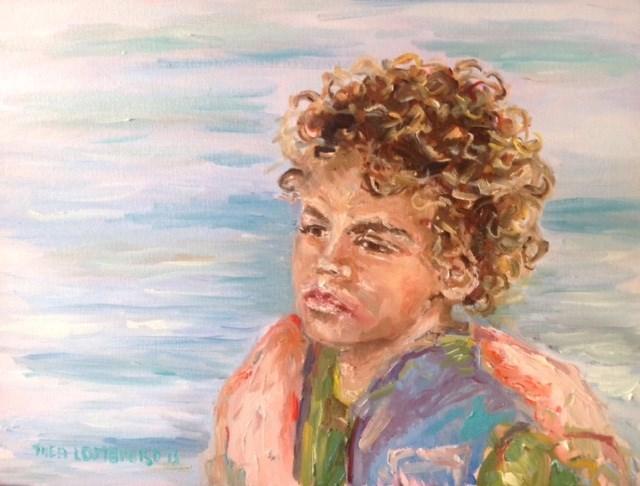 """Roberto"" original fine art by Thea Lombaard"