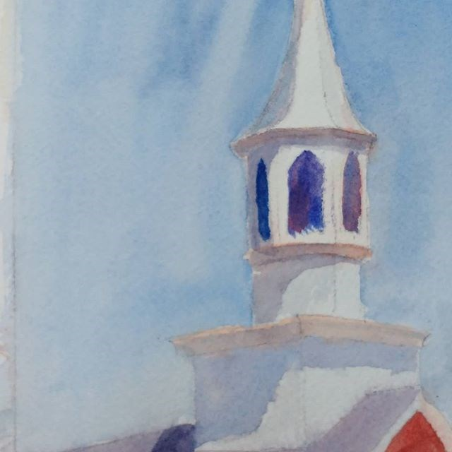"""Blue Ridge Steeple Study"" original fine art by Maria Peagler"