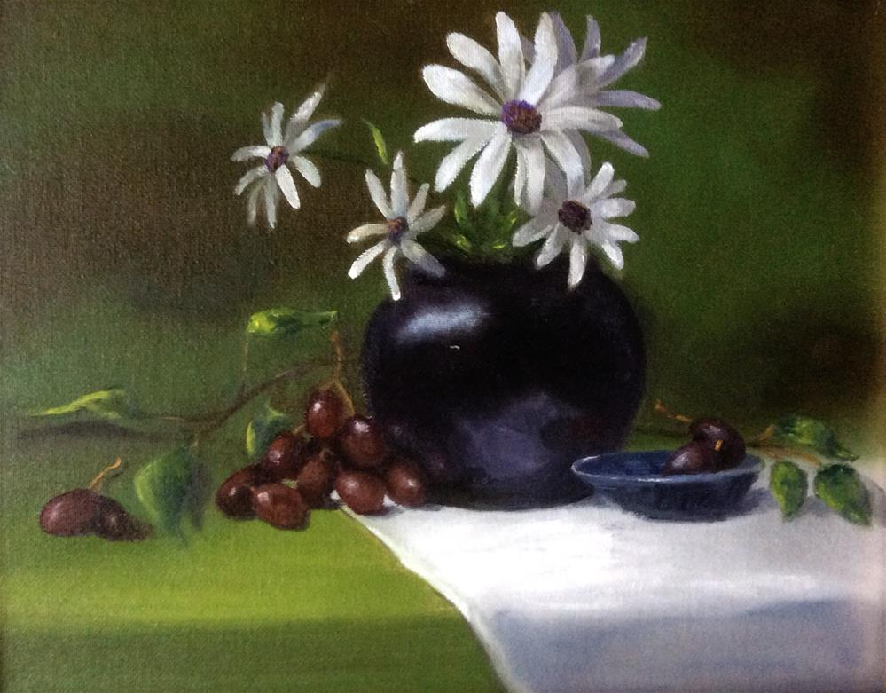 """Everything Came Up Datsies"" original fine art by Susan Hoffheimer"