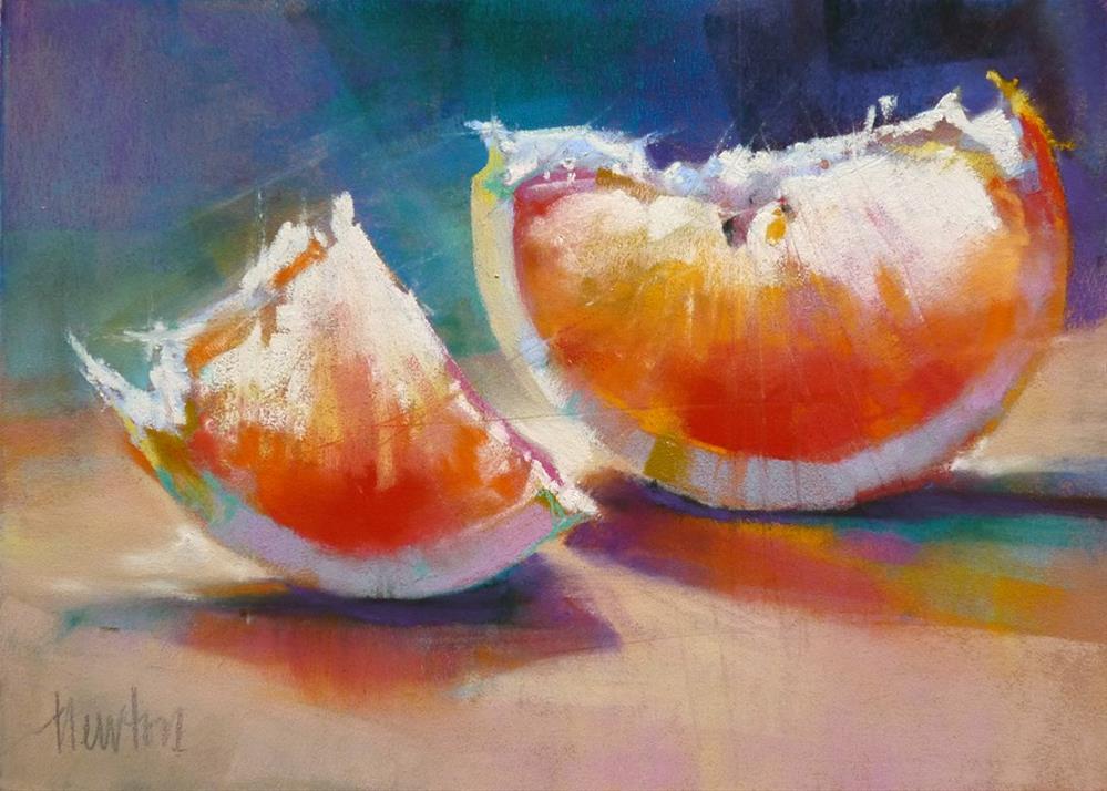 """Pink Grapefruit #3"" original fine art by Barbara Benedetti Newton"