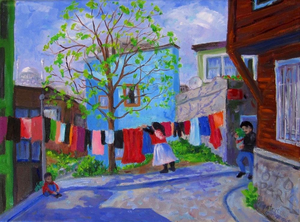 """Street Scene, Istanbul"" original fine art by Patricia Musgrave"