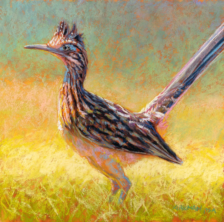 """R is for Roadrunner"" original fine art by Rita Kirkman"