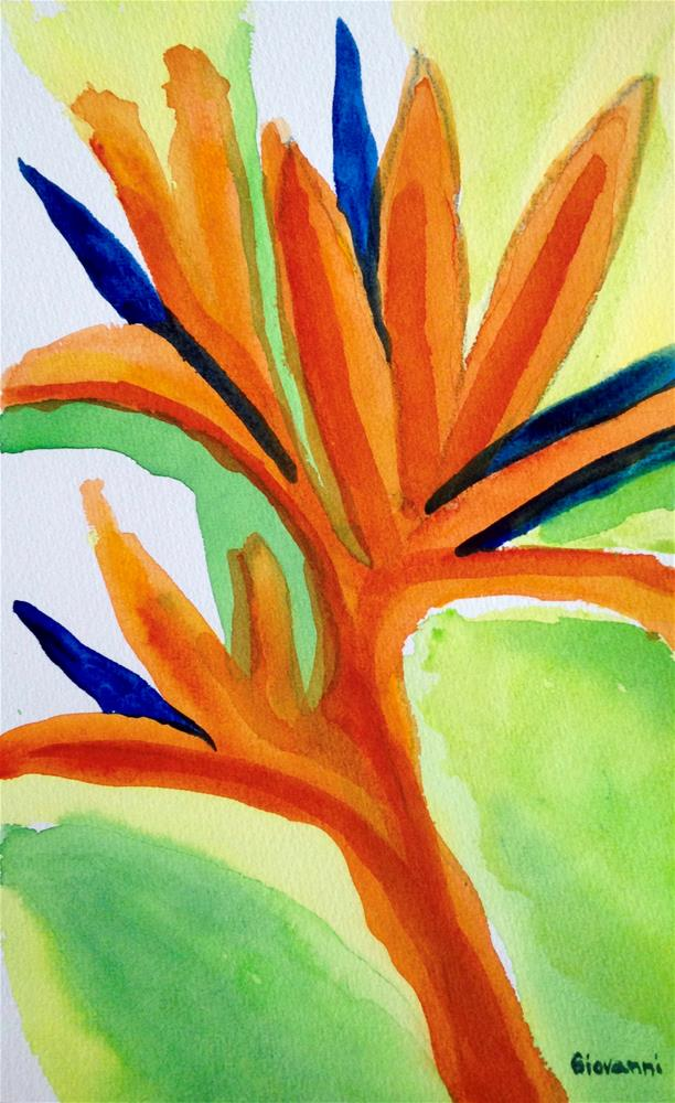 """Abstract #11 (A bird of paradise flower?)"" original fine art by Giovanni Antunez"
