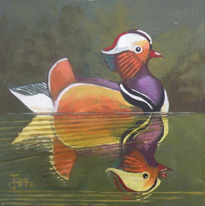 """Mandarin Duck"" original fine art by Toni Goffe"