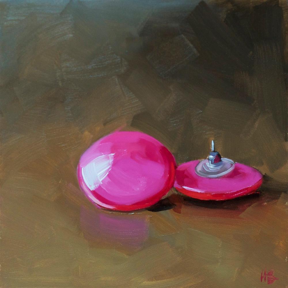 """""""Pink Earrings"""" original fine art by Heather Bullach"""