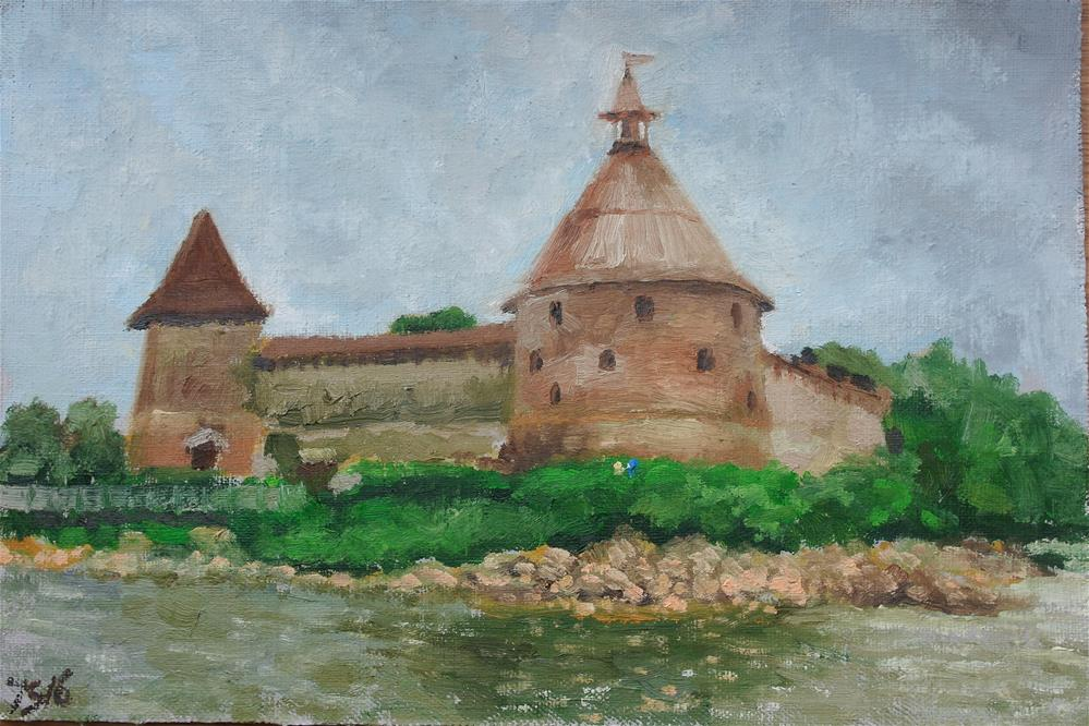 """Oreshek castle"" original fine art by Yuriy Semyonov"