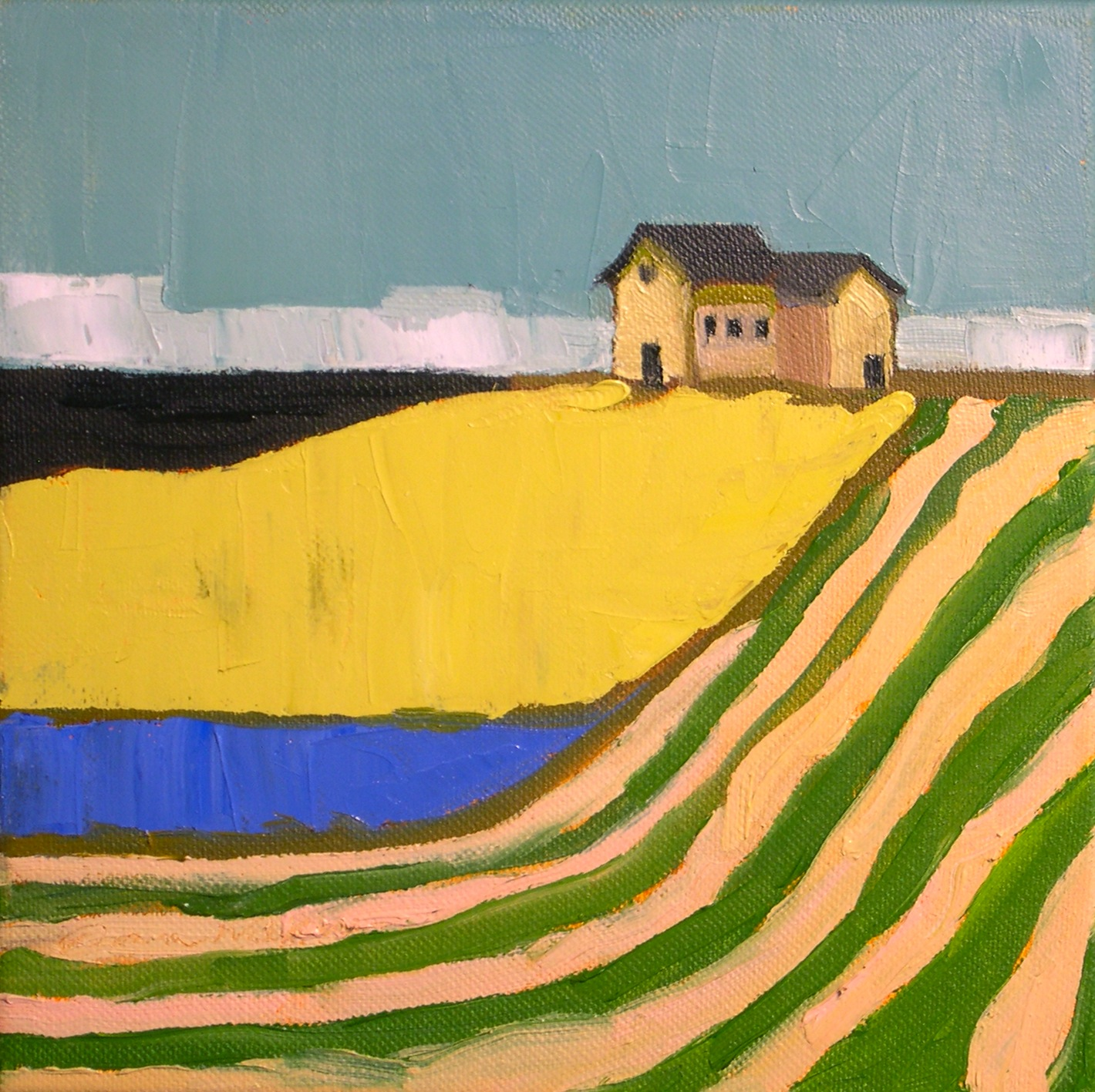 """Striped Fields"" original fine art by Donna Walker"