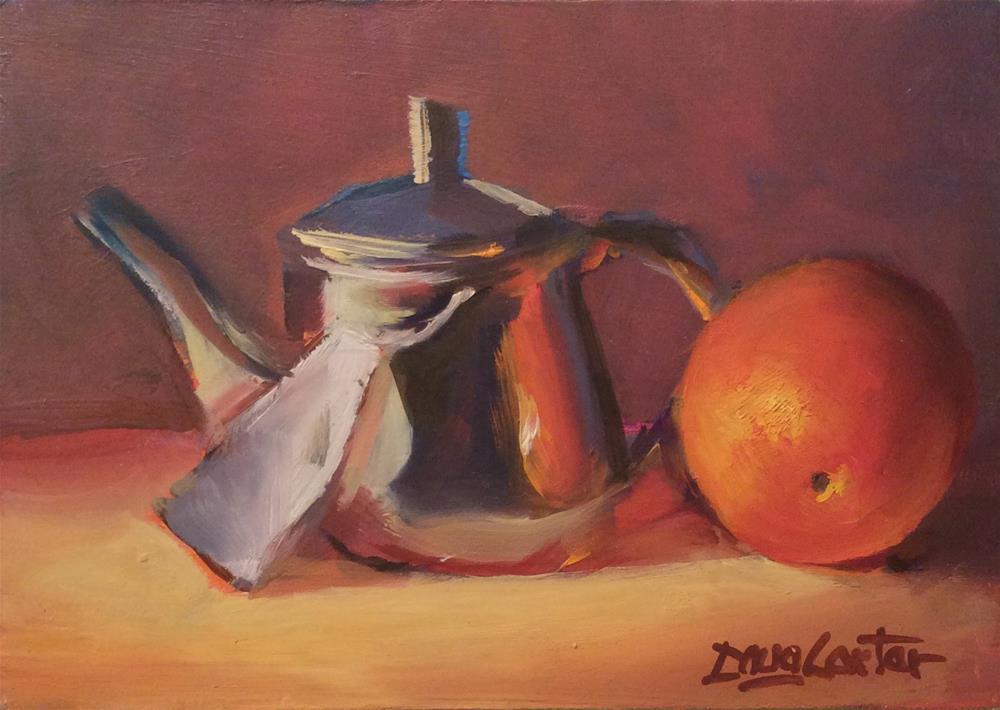 """ ORANGE you cute "" original fine art by Doug Carter"