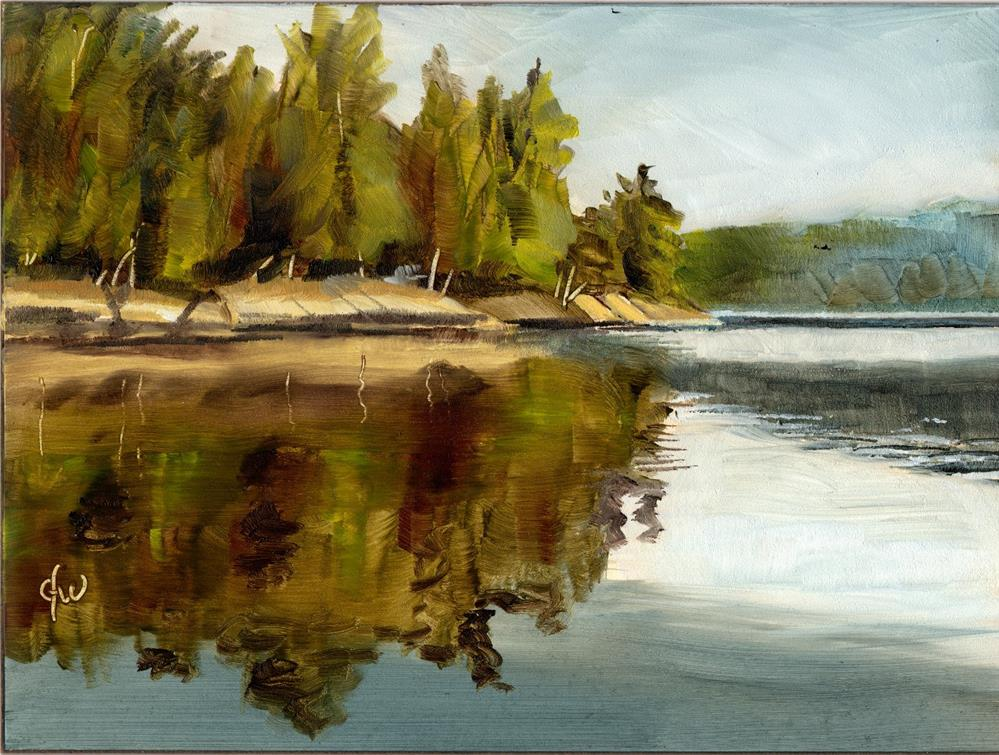 """Lake View"" original fine art by Gary Westlake"
