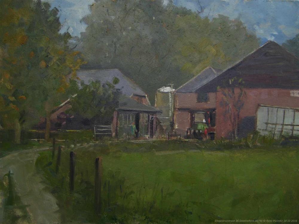 """Ellegoorsestraat 26 Doetinchem, The Netherlands"" original fine art by René PleinAir"