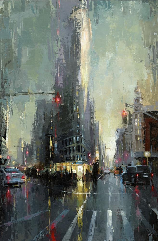 """""""NYC - Flatiron"""" original fine art by Victor Bauer"""