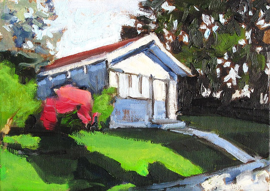 """North Park Cottage"" original fine art by Kevin Inman"