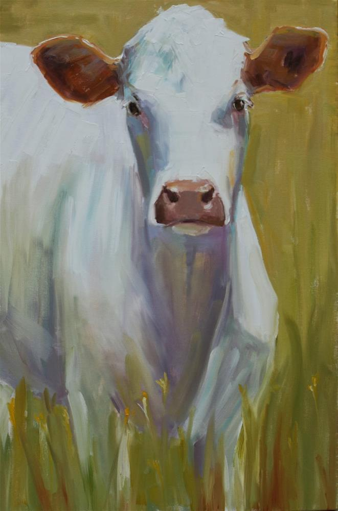 """new cow"" original fine art by Carol Carmichael"