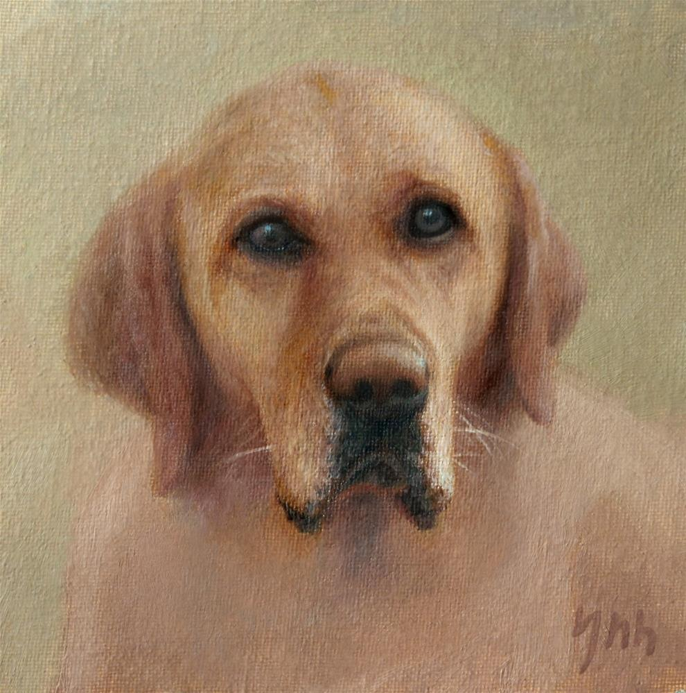 """dog"" original fine art by Yuehua He"