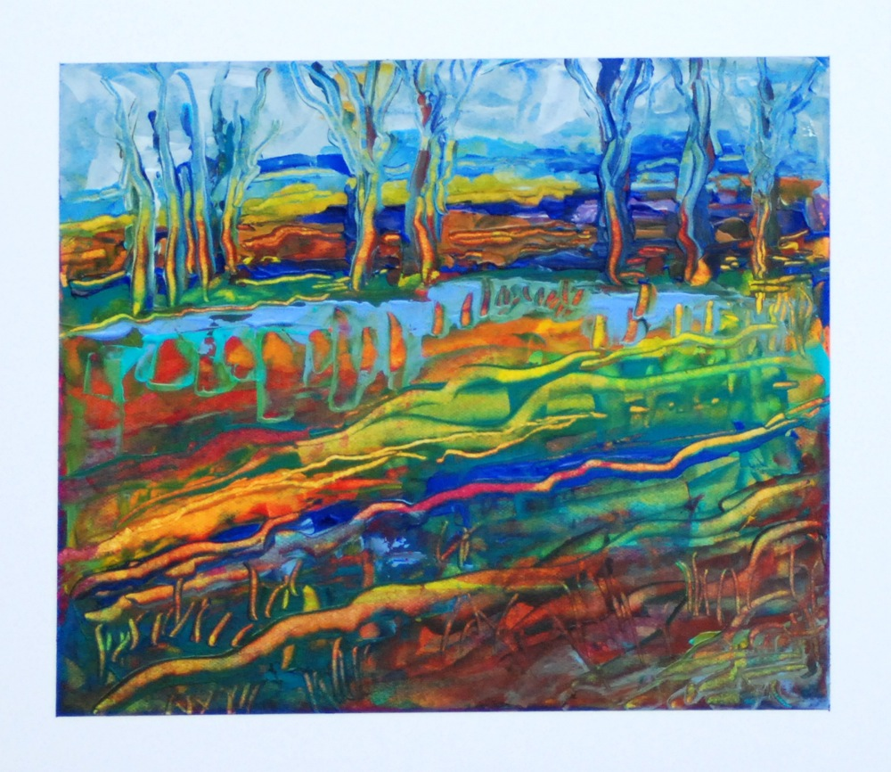 """Falling into Winter"" original fine art by Vicki Wood"