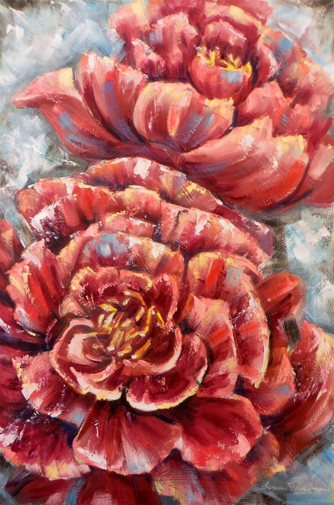 """Blush of Red"" original fine art by Tammie Dickerson"