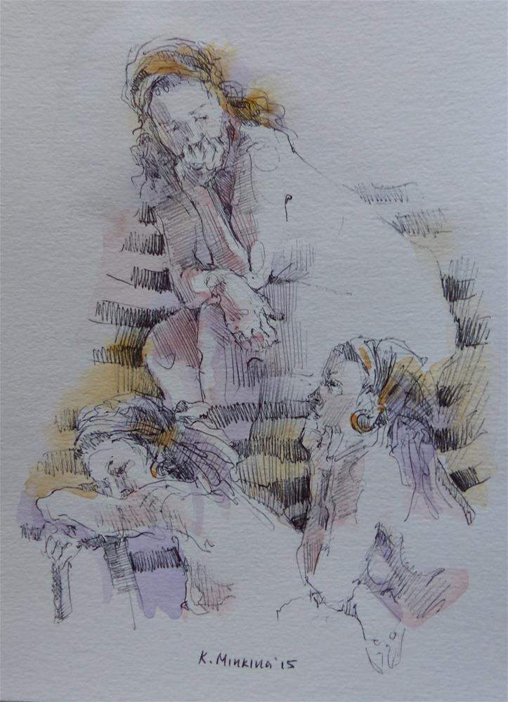 """sketchbook#9"" original fine art by Katya Minkina"