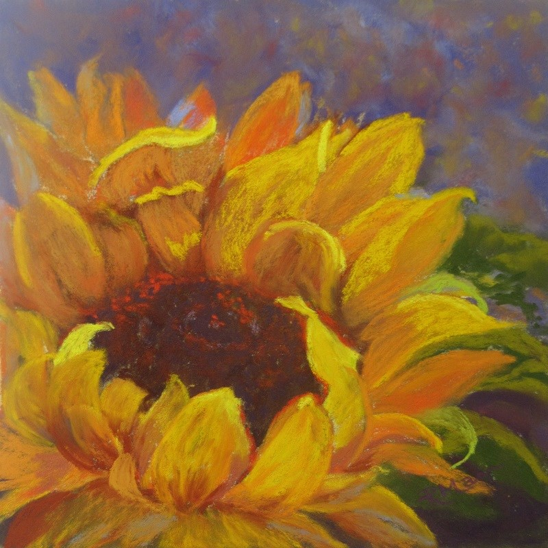 """Sunflower North"" original fine art by Ruth Mann"
