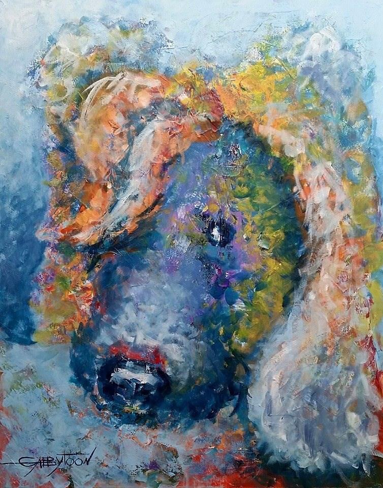 """Shy Poodle"" original fine art by Gabriella DeLamater"