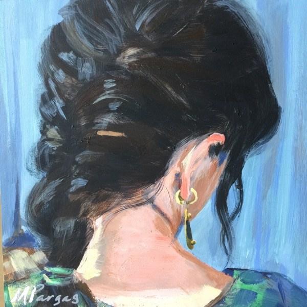 """French Braid"" original fine art by Mary Pargas"