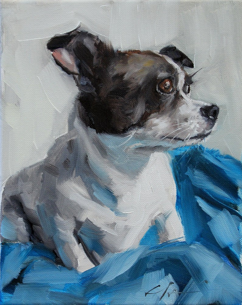 """The Daily Dog - Eighteen"" original fine art by Clair Hartmann"