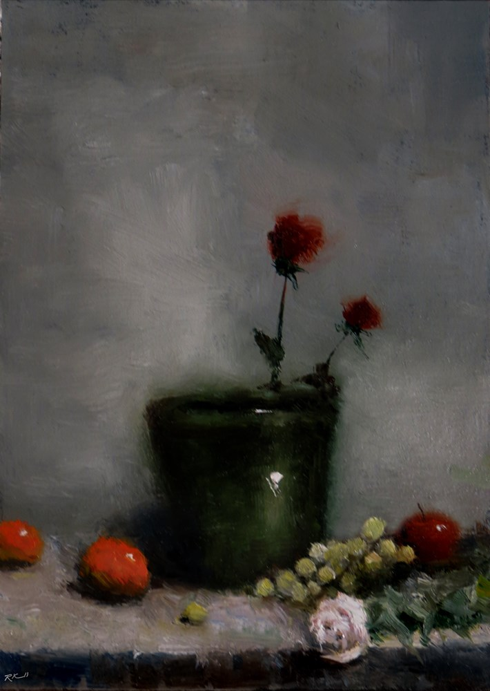 """Flowers and Fruit"" original fine art by Bob Kimball"