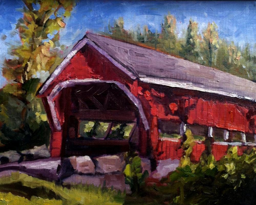 """Covered Bridge"" original fine art by Kristen Dukat"