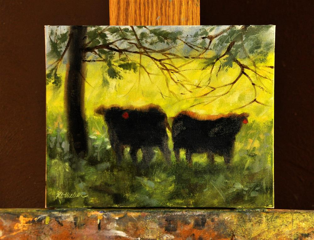 """Dos Bovine"" original fine art by Rl Weber"