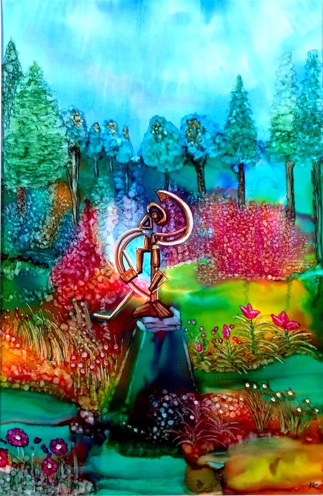 """Sculpture Garden"" original fine art by Korinne Carpino"