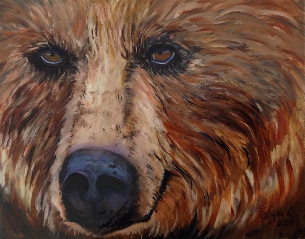 """Bearing eye's"" original fine art by Sigrid Victor"