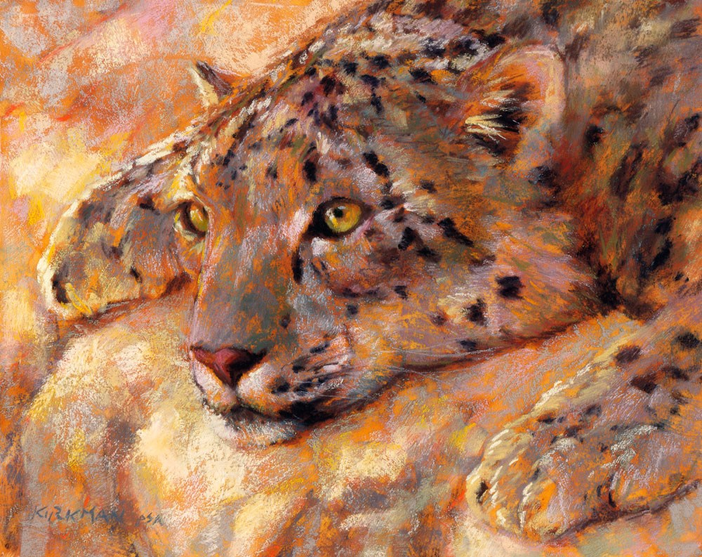 """Snow Leopard"" original fine art by Rita Kirkman"