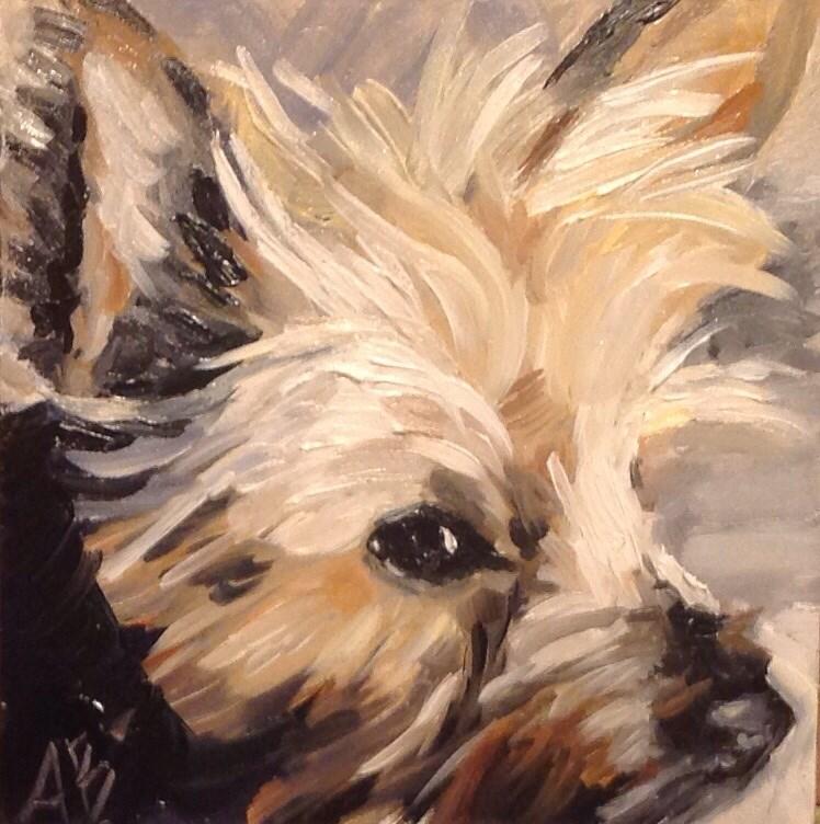 """Lily"" original fine art by Annette Balesteri"
