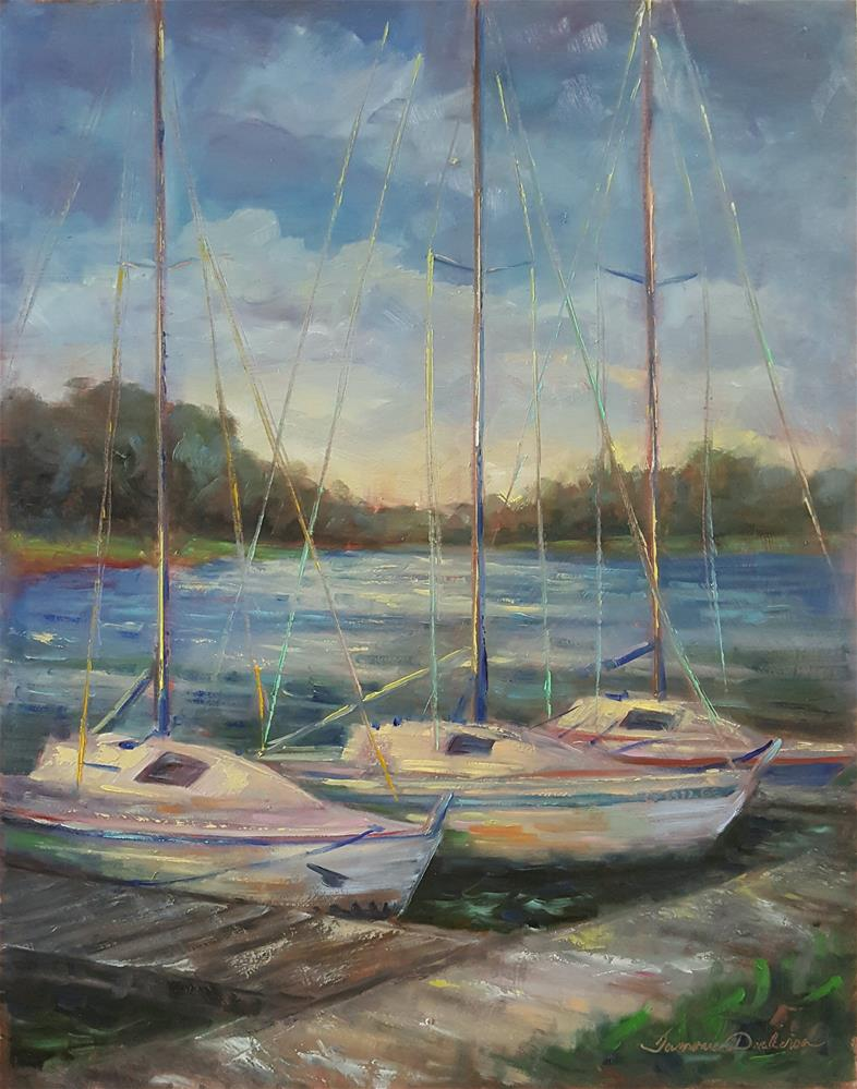 """Tied at Weatherby Lake"" original fine art by Tammie Dickerson"
