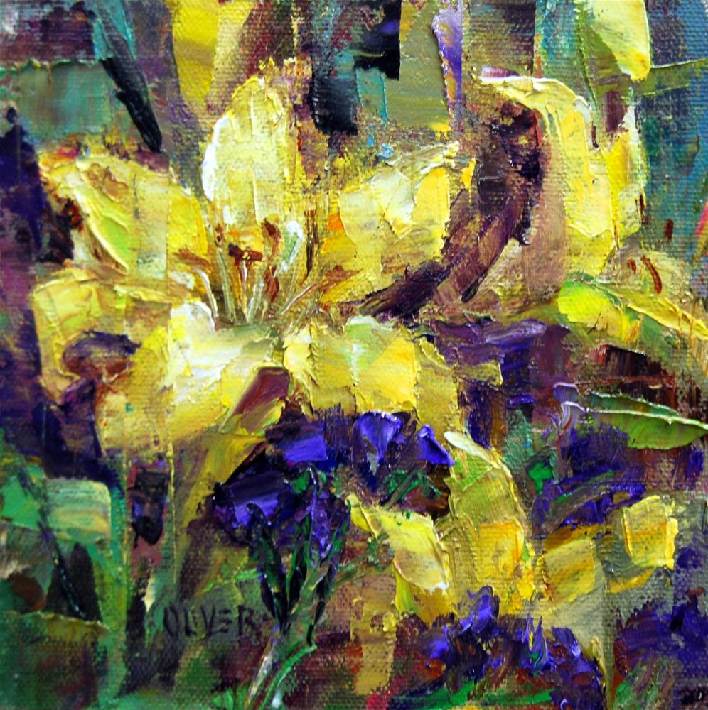 """Yellow Lily Study"" original fine art by Julie Ford Oliver"