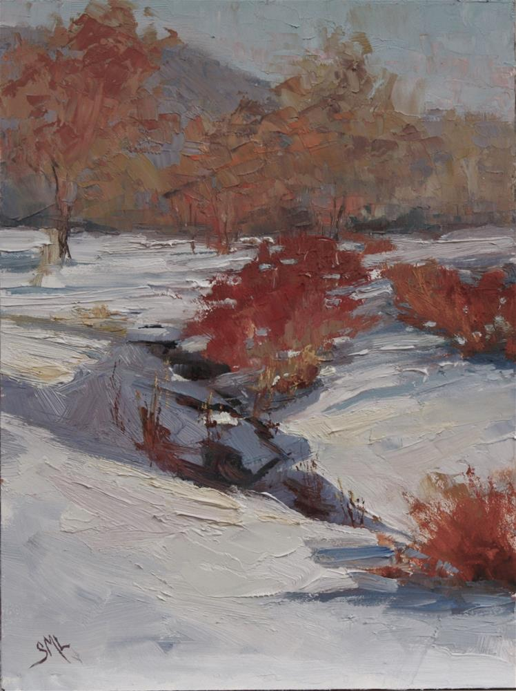 """Snow on the Course"" original fine art by Sheila Marie"