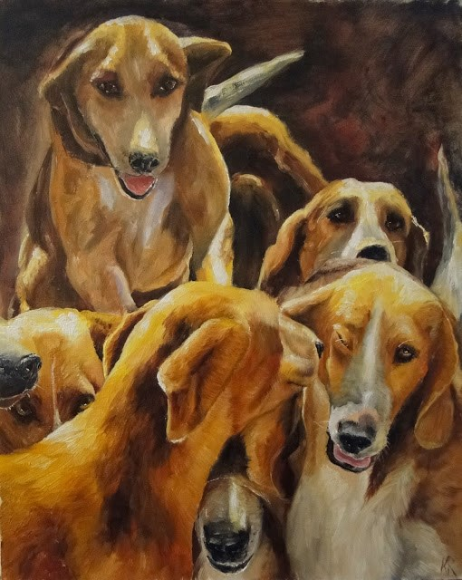 """Pack Together"" original fine art by Karen Robinson"